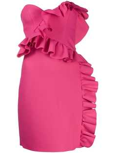 MSGM платье-бюстье с оборками