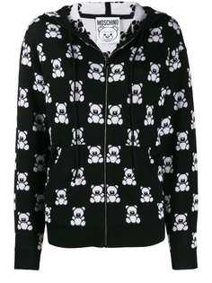 Moschino куртка Teddy Bear на молнии с капюшоном
