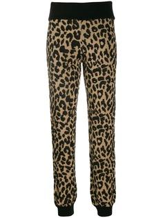 Blumarine спортивные брюки с леопардовым принтом