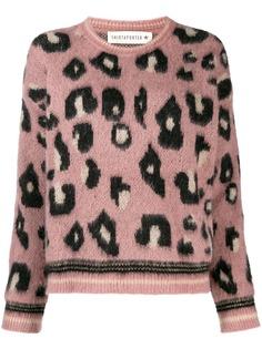 Shirtaporter свитер с леопардовым принтом