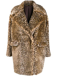 Tagliatore пальто с леопардовым принтом