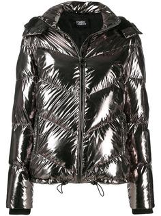 Karl Lagerfeld пуховик с эффектом металлик