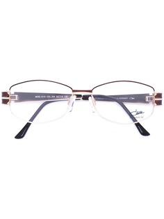 Cazal очки с эмалированной овальной оправой