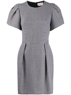 Alexander McQueen короткое платье в ломаную клетку