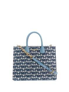 Miu Miu жаккардовая сумка-тоут с логотипом