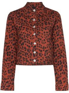Miaou джинсовая куртка Lex с леопардовым принтом