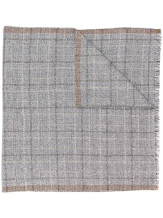 Eleventy клетчатый вязаный шарф