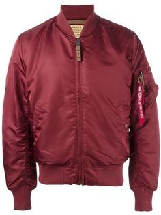 Alpha Industries куртка-бомбер с карманом на рукаве