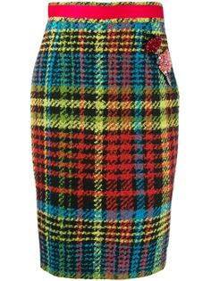 Cavalli Class юбка-карандаш в клетку тартан