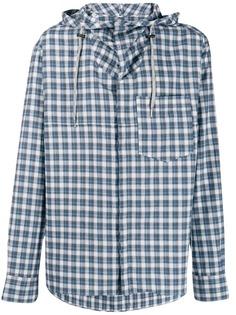 Lanvin рубашка в клетку с капюшоном