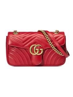 Gucci маленькая стеганая сумка на плечо GG Marmont