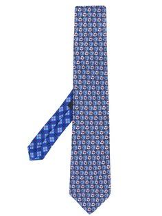 Etro галстук с цветочным принтом
