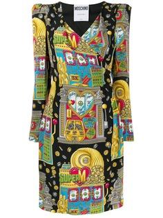 Moschino платье с принтом