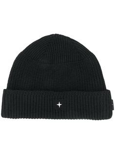 Stone Island шапка бини с вышитым логотипом