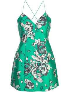 Alice+Olivia floral sweetheart dress