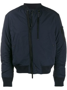 Emporio Armani loose-fit zip-up bomber