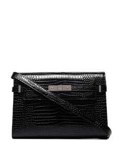 Saint Laurent сумка на плечо Manhattan с тиснением под кожу крокодила