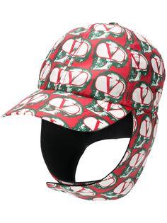 Valentino logo trapper cap