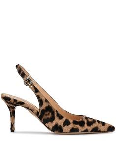Charlotte Olympia туфли-лодочки с заостренным носком и леопардовым принтом