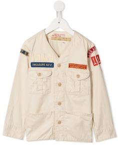 Denim Dungaree куртка с нашивками