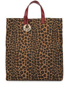Fendi Pre-Owned жаккардовая сумка-тоут с леопардовым принтом