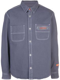 Heron Preston джинсовая рубашка с логотипом