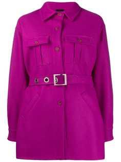 Pinko пальто-рубашка с поясом