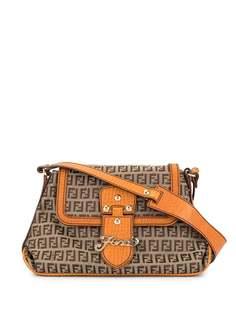 Fendi Pre-Owned жаккардовая сумка на плечо Zucchino