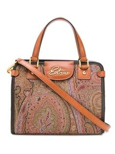 Etro жаккардовая сумка-тоут с принтом пейсли