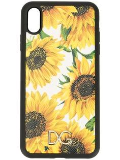 Dolce & Gabbana чехол для iPhone XS Max с цветочным принтом