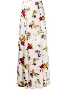 Alice+Olivia юбка с завышенной талией и цветочным принтом