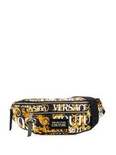 Versace Jeans Couture поясная сумка с принтом Baroque