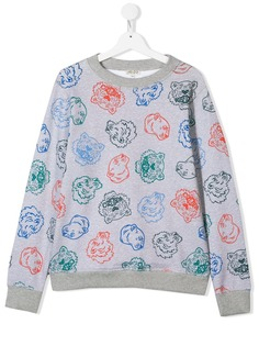 Kenzo Kids свитер с принтом