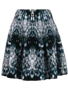 Alexander McQueen трикотажная юбка с абстрактным рисунком