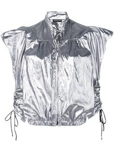 COUP DE COEUR драпированная куртка с металлическим отблеском