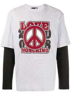 Love Moschino футболка Love с длинными рукавами