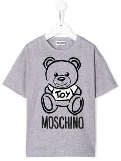 Moschino Kids футболка с принтом Teddy Bear