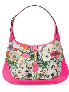 Gucci сумка-хобо Jackie среднего размера с принтом Flora