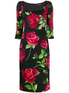Dolce & Gabbana платье с принтом Portofino