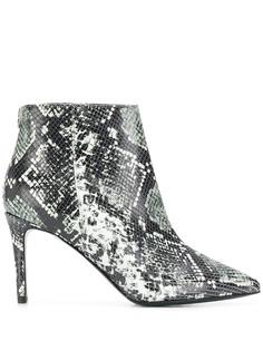 Patrizia Pepe snakeskin effect boots