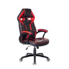 Кресло игровое БЮРОКРАТ СН-790, на колесиках, искусственная кожа/сетка [сн-790/bl+r]