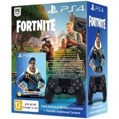 Аксессуар для игровой консоли PlayStation Геймпад Dualshock v2 Black+Fortnite