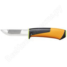 Нож для тяжелых работ с точилкой fiskars 1023619