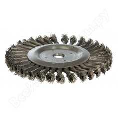 Щетка дисковая цилиндрическая со жгутовой стальной проволокой мастер 076 (100 мм; 22.2 мм) профоснастка 20108002