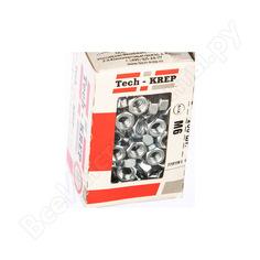 Шестигранная гайка din 934 оцинкованная м6, 200шт - коробка tech-krep 105247