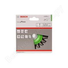 Щетка дисковая (115 мм; м14) inox витая bosch 2608622106