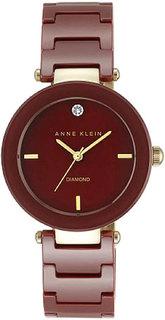 Женские часы в коллекции Diamond Ceramics Женские часы Anne Klein 1018BYGB