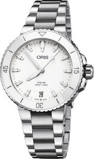 Швейцарские женские часы в коллекции Aquis Женские часы Oris 733-7731-41-51MB