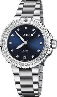 Швейцарские женские часы в коллекции Aquis Женские часы Oris 733-7731-49-95MB