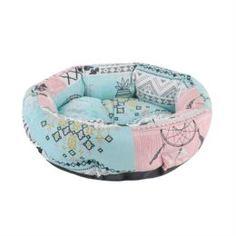 Домики, лежаки, переноски, когтеточки Лежак-ватрушка для кошек геометрия Pride этника ананас 45х45х12 см